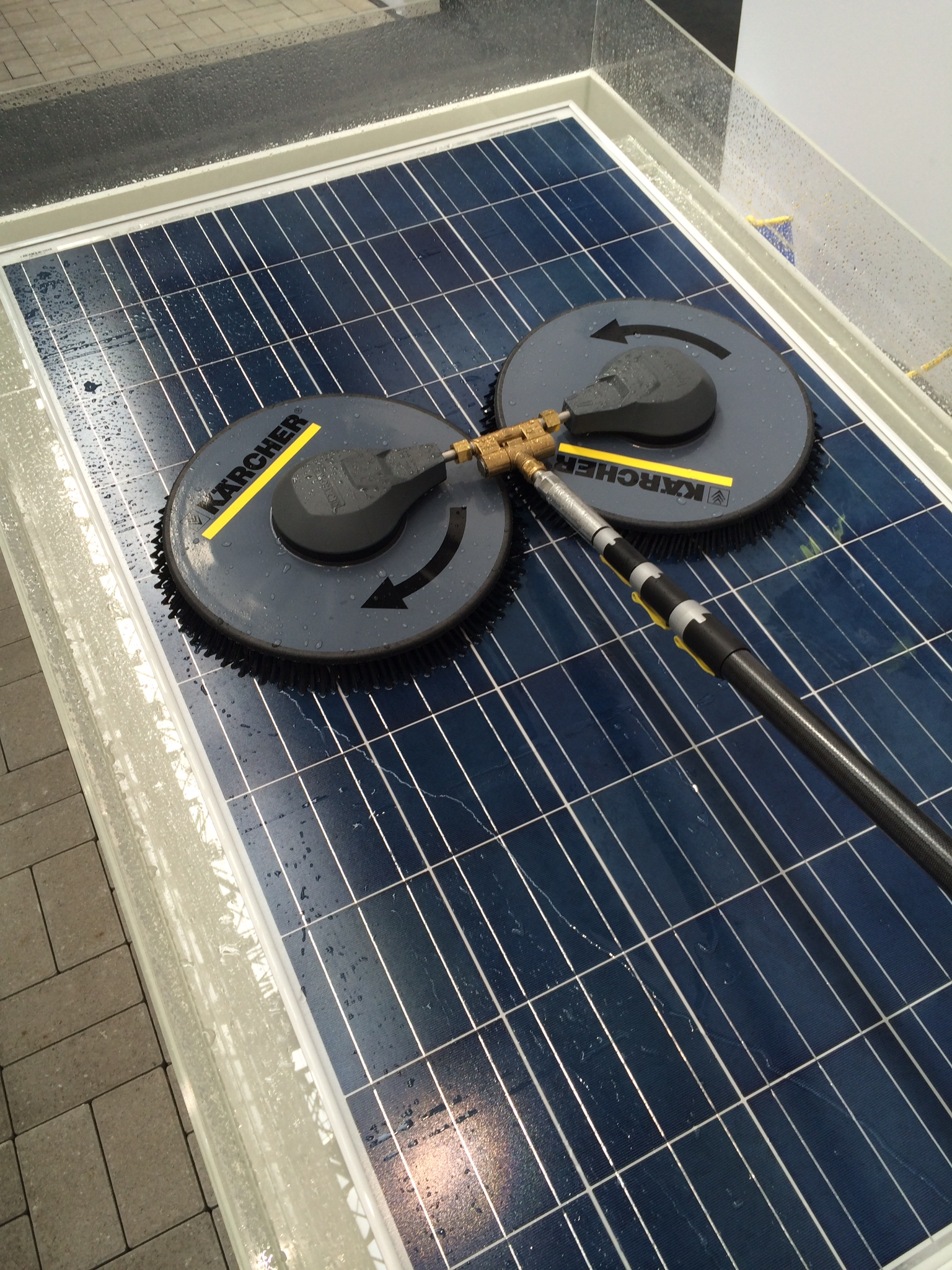 Solar Panel Cleaning At The Issa Interclean Today